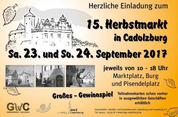 15. Herbstmarkt Cadolzburg Flyer