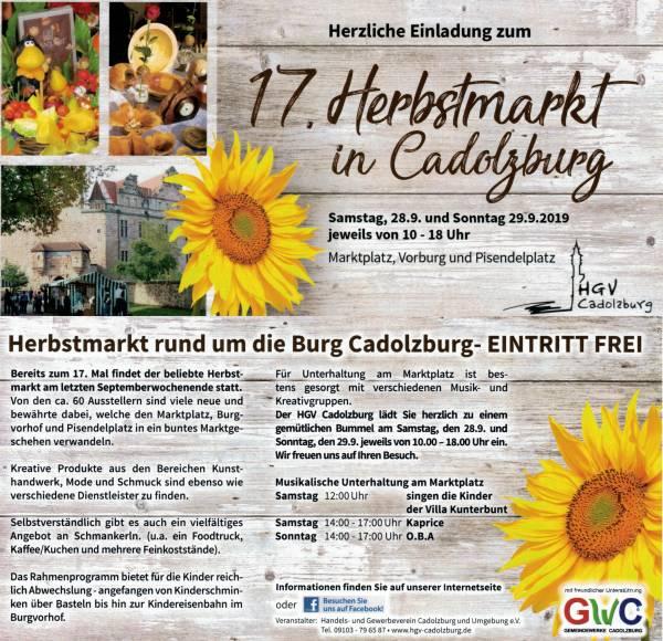 Herbstmarkt Cadolzburg 2019